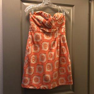 Tibi Size 6 Strapless Mini Dress